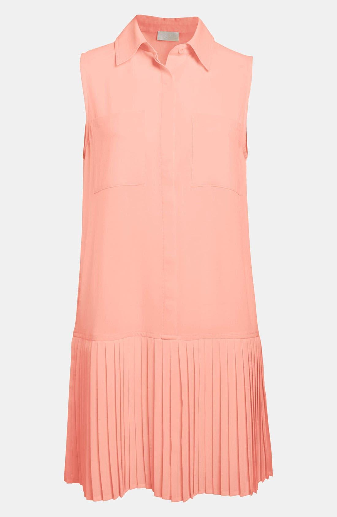 Alternate Image 1 Selected - ASTR Pleated Skirt Drop Waist Dress