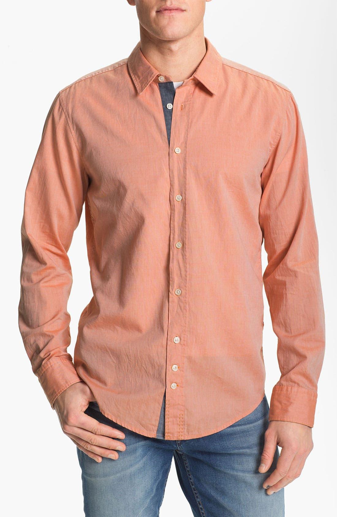 Alternate Image 1 Selected - BOSS Orange Oxford Shirt