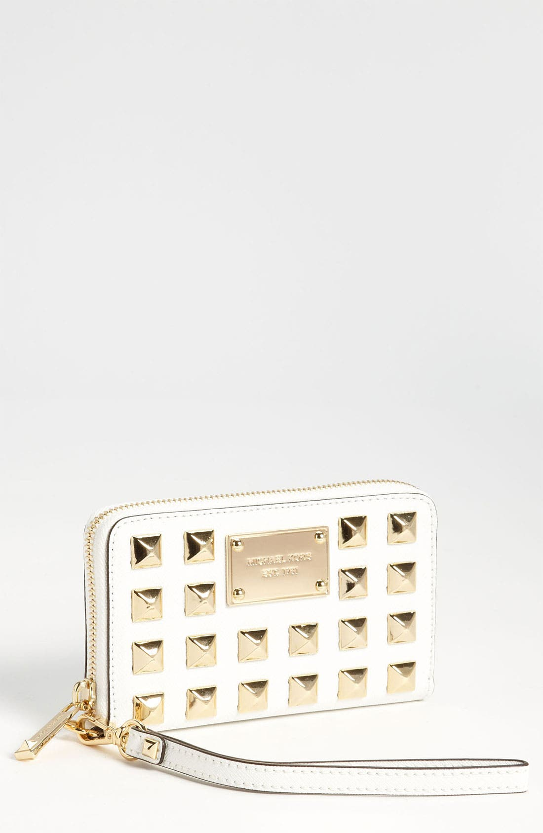Main Image - MICHAEL Michael Kors Pyramid Stud Phone Wristlet