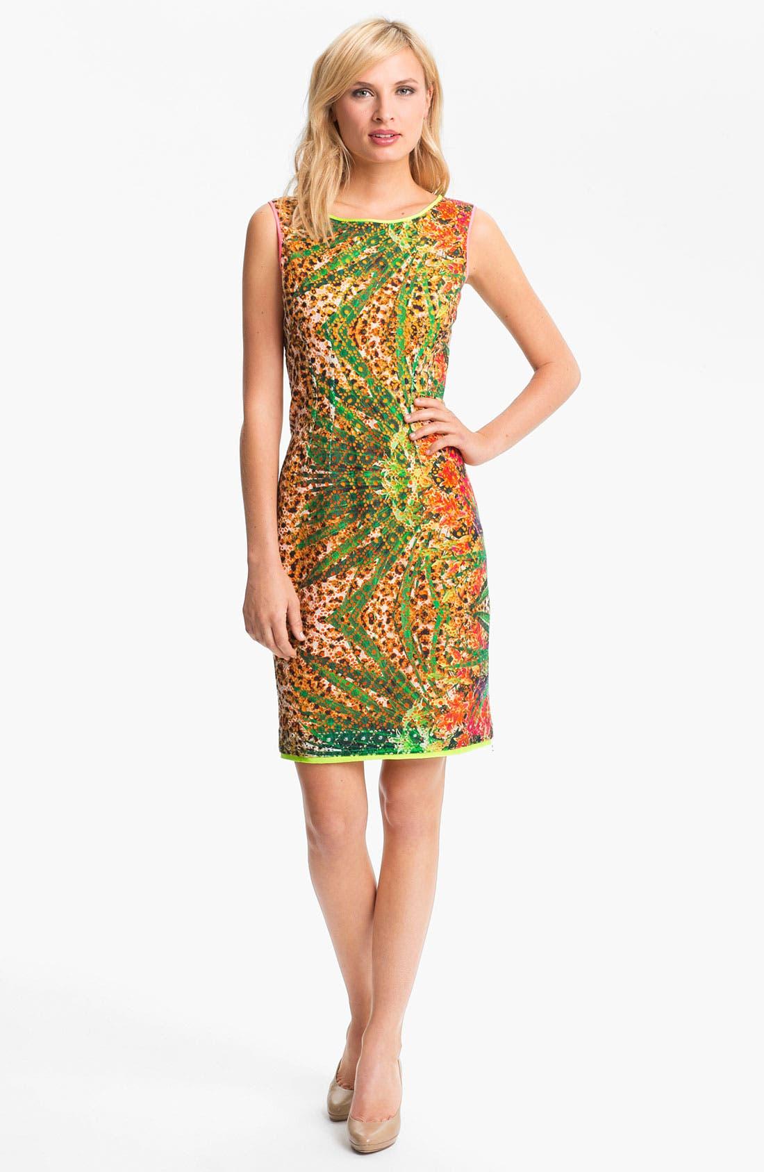 Main Image - Elie Tahari 'Claudia - Tropical Leopard' Dress
