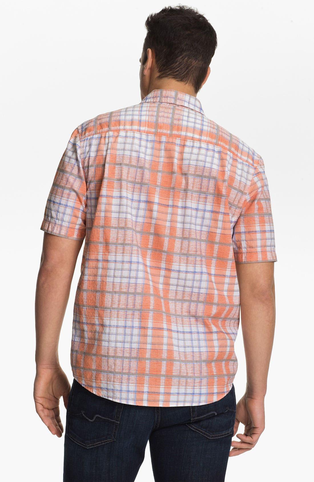 Alternate Image 2  - Tommy Bahama 'Plaidlantic' Regular Fit Short Sleeve Sport Shirt