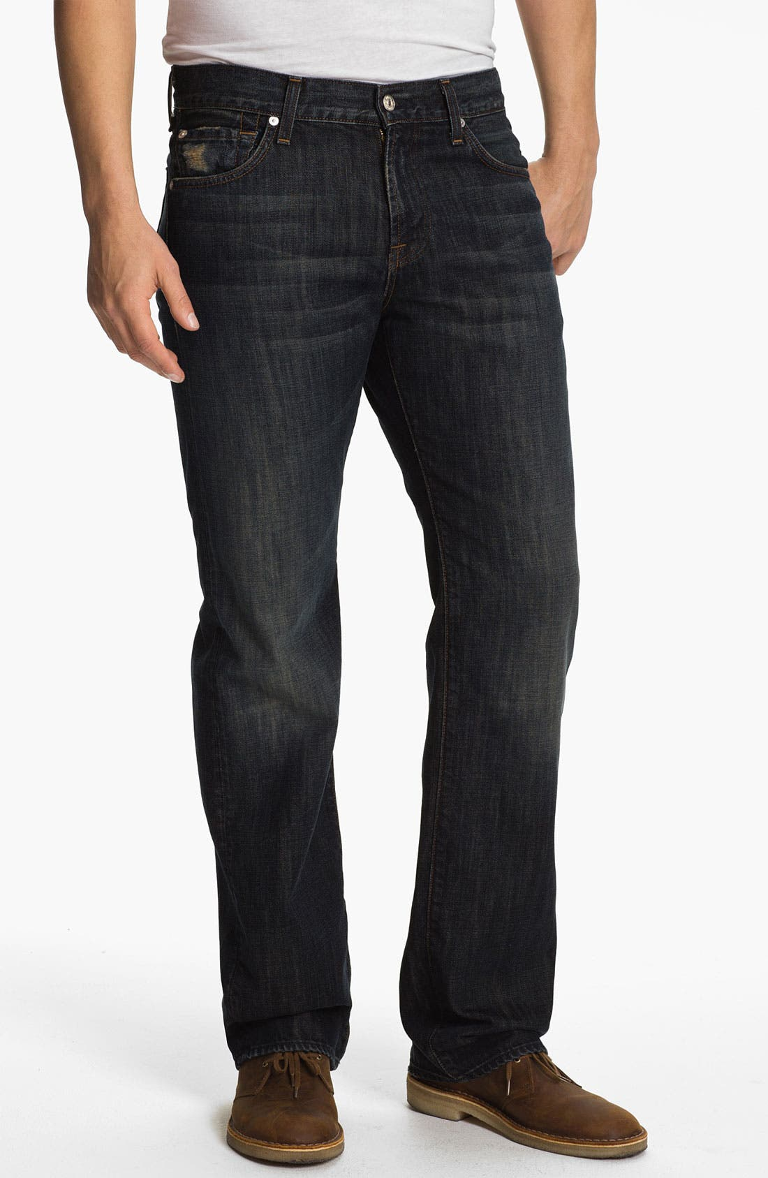 Alternate Image 1 Selected - 7 For All Mankind® 'Austyn' Relaxed Straight Leg Jeans (Montana)