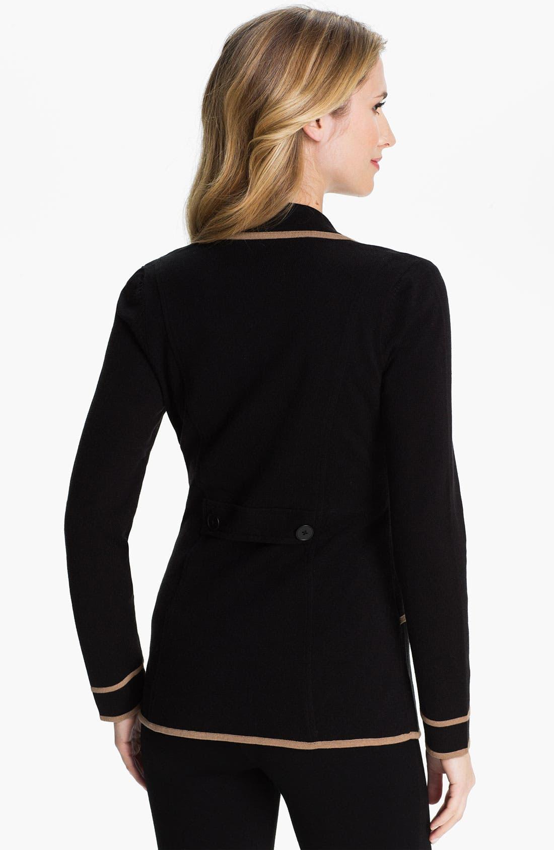 Alternate Image 2  - Nic + Zoe Tipped Sweater Jacket (Petite)