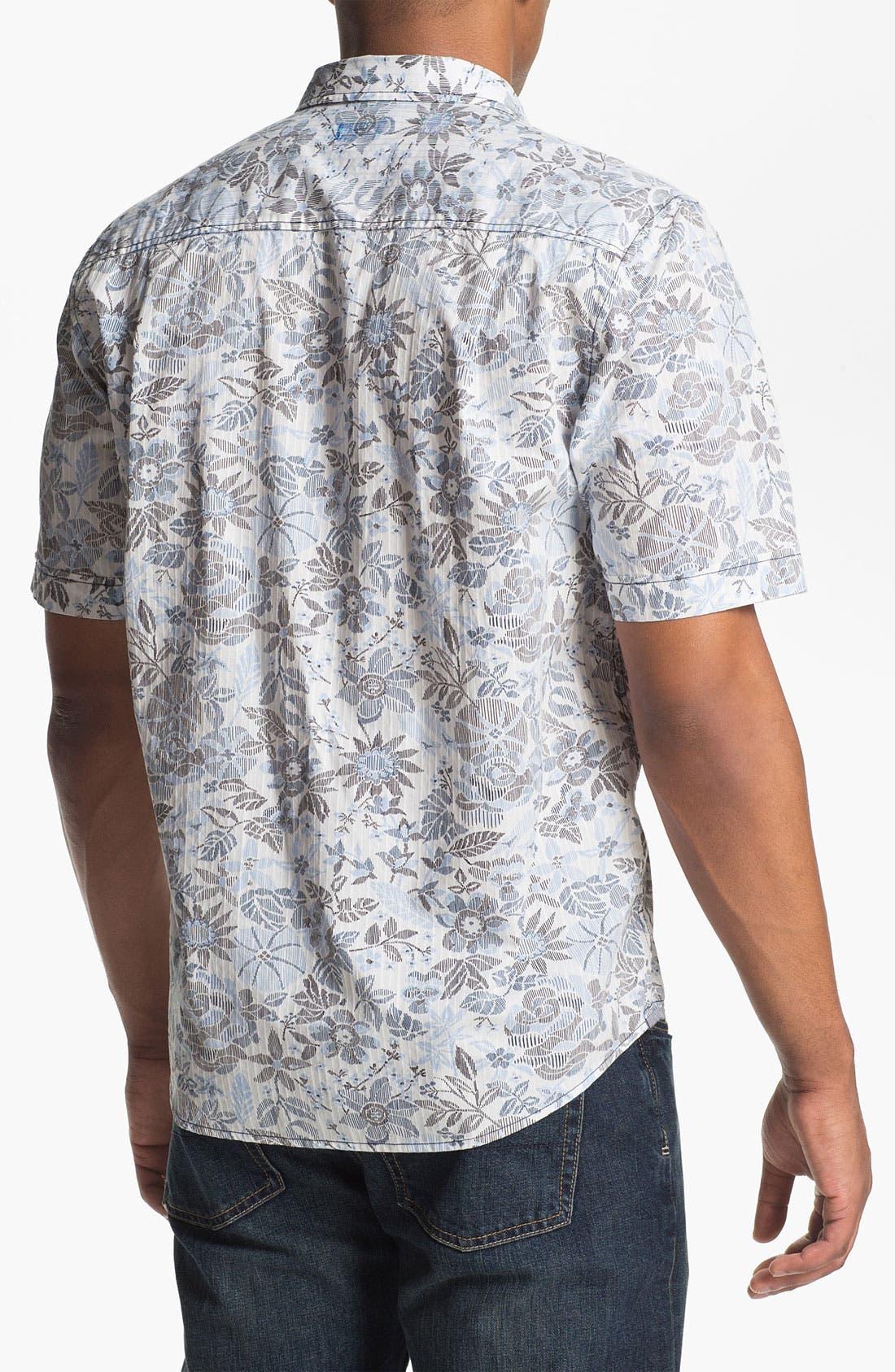 Alternate Image 2  - Tommy Bahama Denim 'Sea Canyon Print' Regular Fit Short Sleeve Sport Shirt