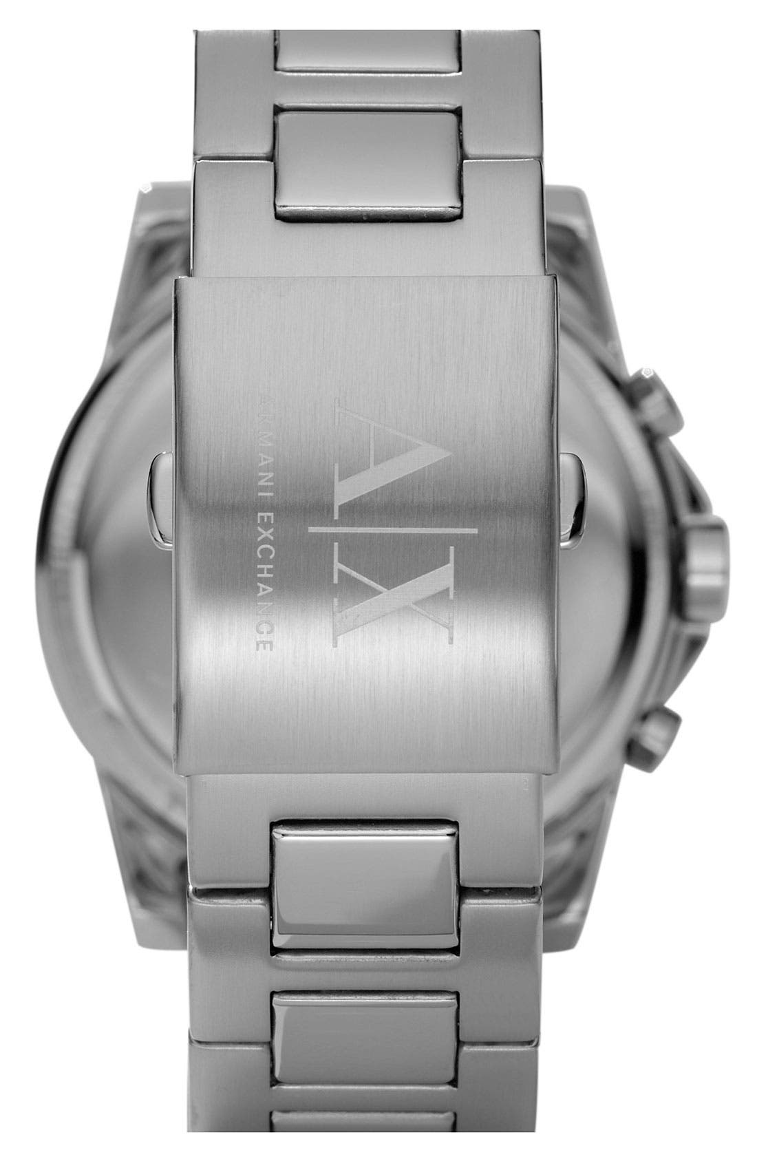 Alternate Image 2  - AX Armani Exchange Round Chronograph Watch, 45mm