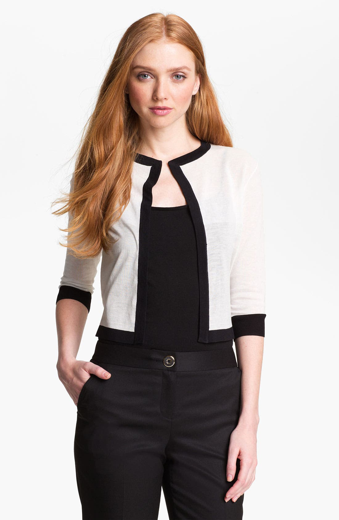 Alternate Image 1 Selected - Ted Baker London Crop Cardigan (Online Only)