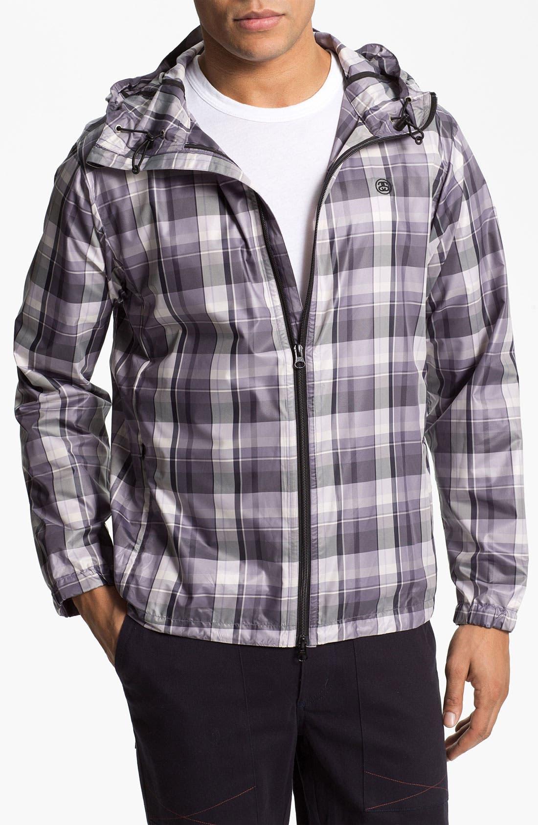 Main Image - Stussy Deluxe Plaid Print Hooded Jacket