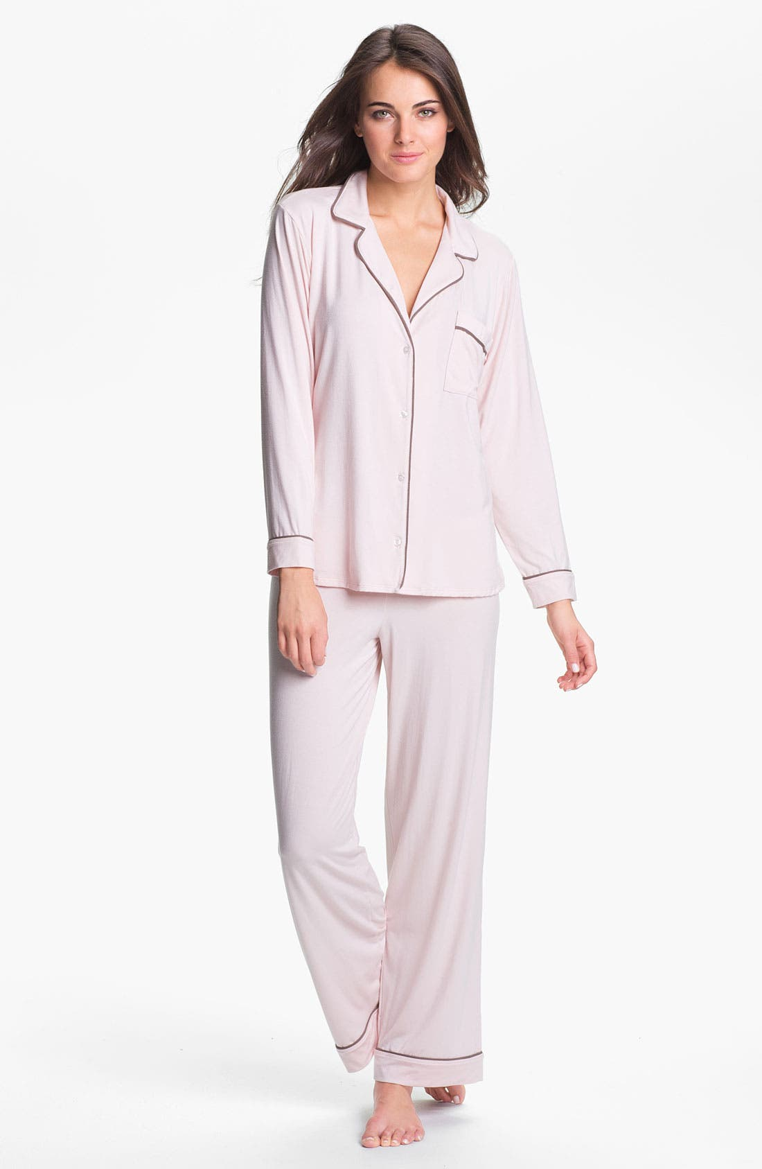 'Giselle' Pajamas,                             Main thumbnail 1, color,                             Sorbet Pink/ Pebble