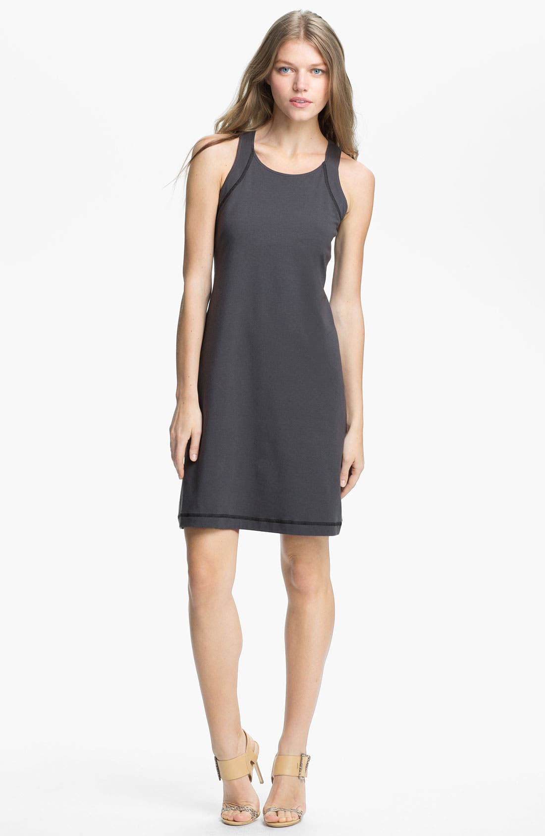 Alternate Image 1 Selected - Eileen Fisher Scoop Neck Racerback Dress