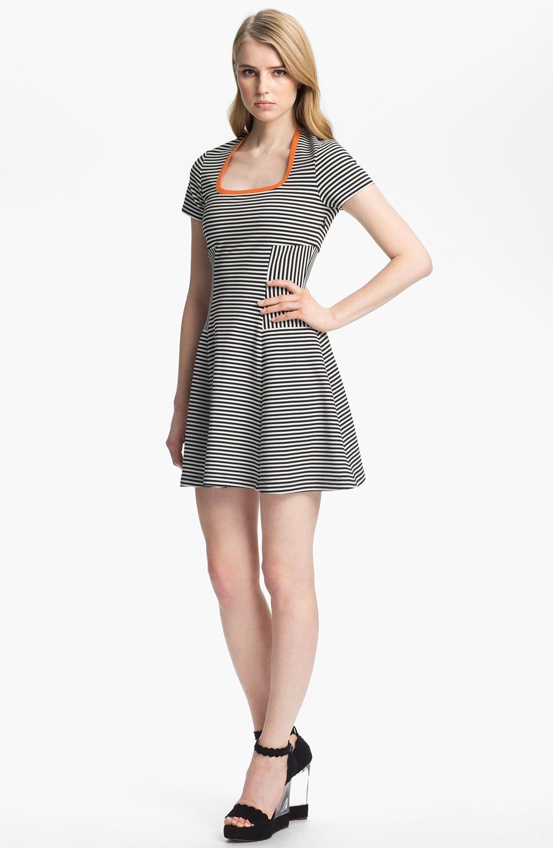 Alternate Image 1 Selected - Cut25 Flared Knit Dress