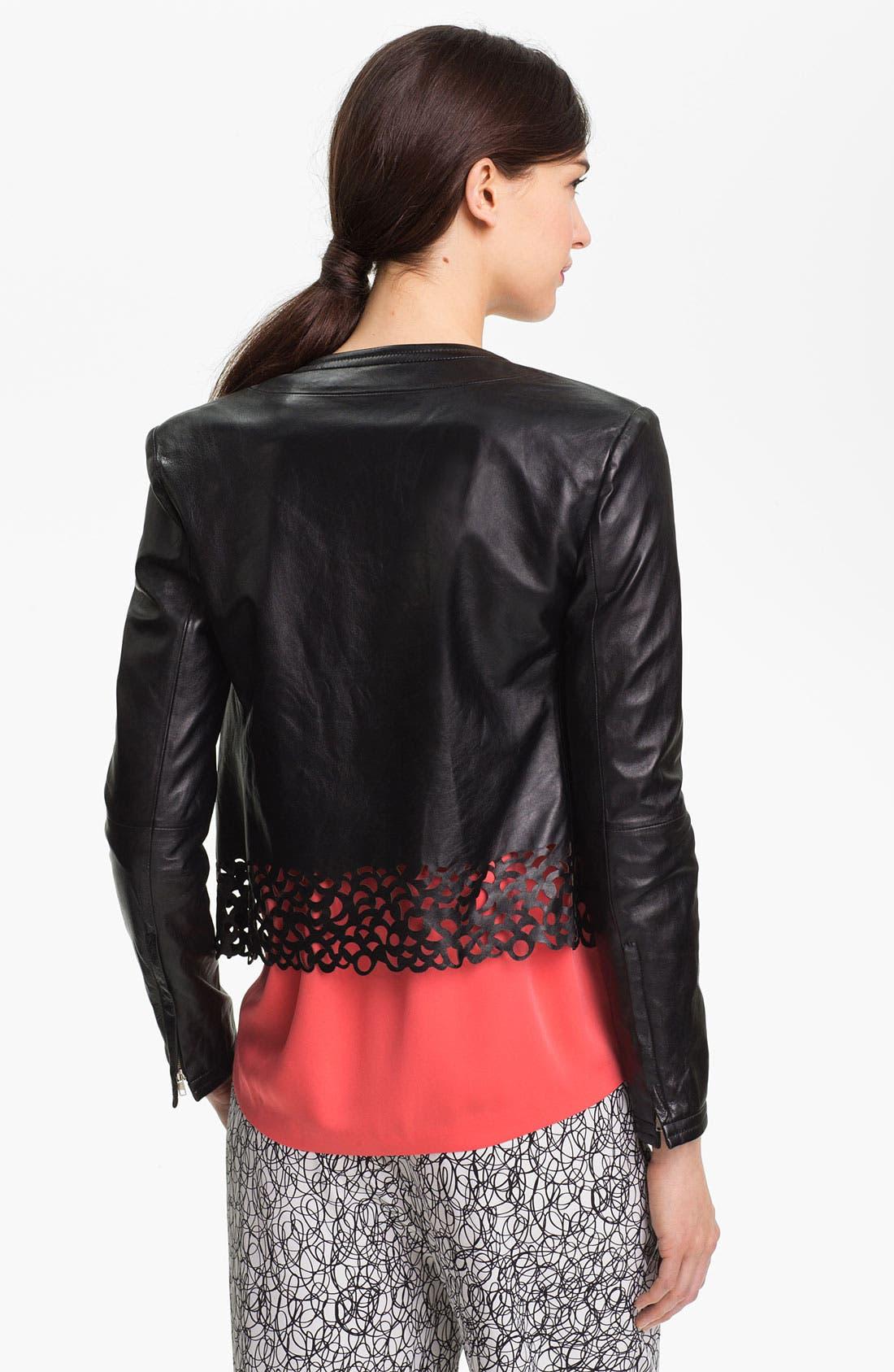 Alternate Image 2  - Diane von Furstenberg 'Merryl' Crop Leather Jacket