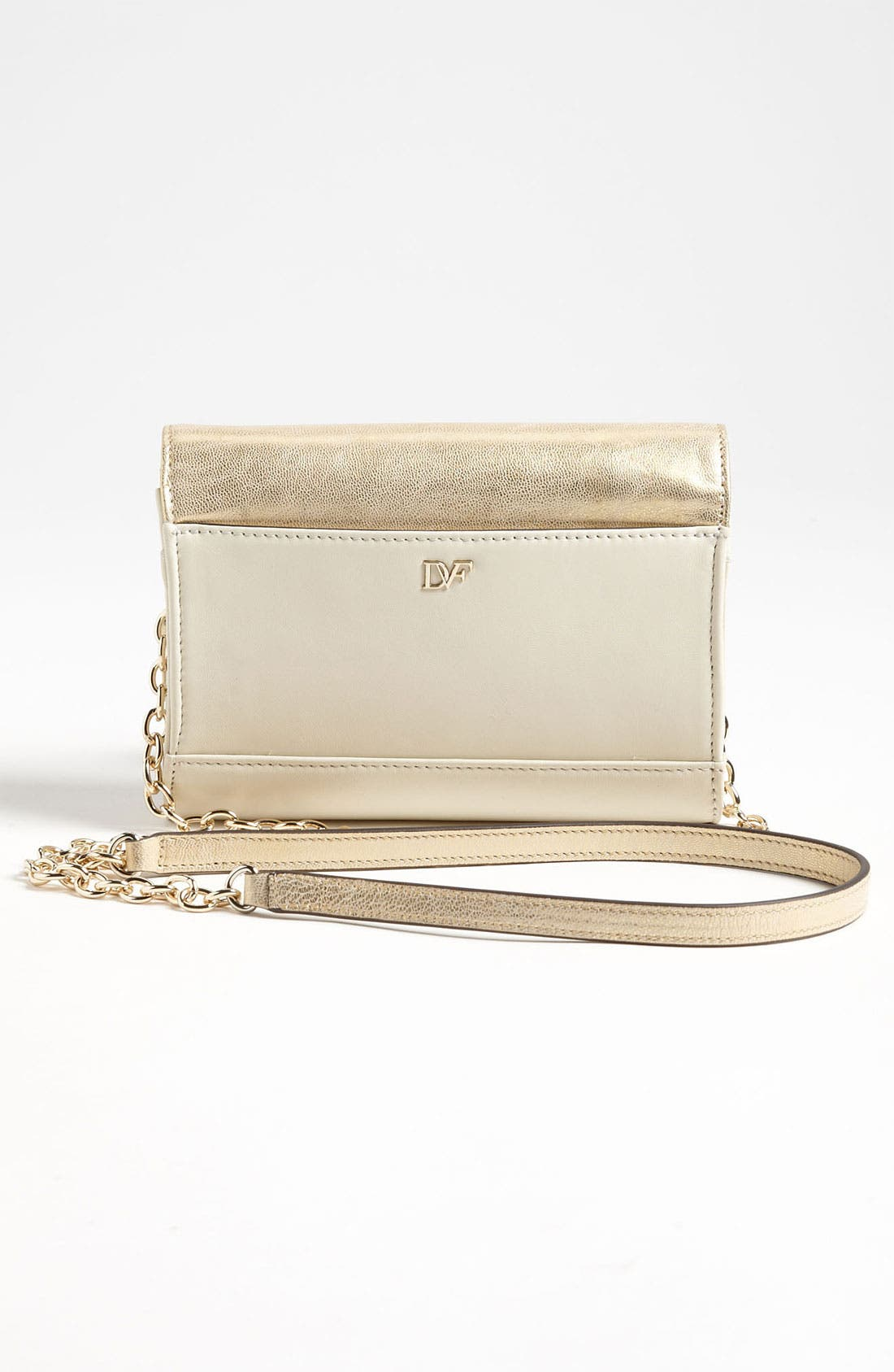 Alternate Image 4  - Diane von Furstenberg 'Lips - Mini' Metallic Leather Clutch