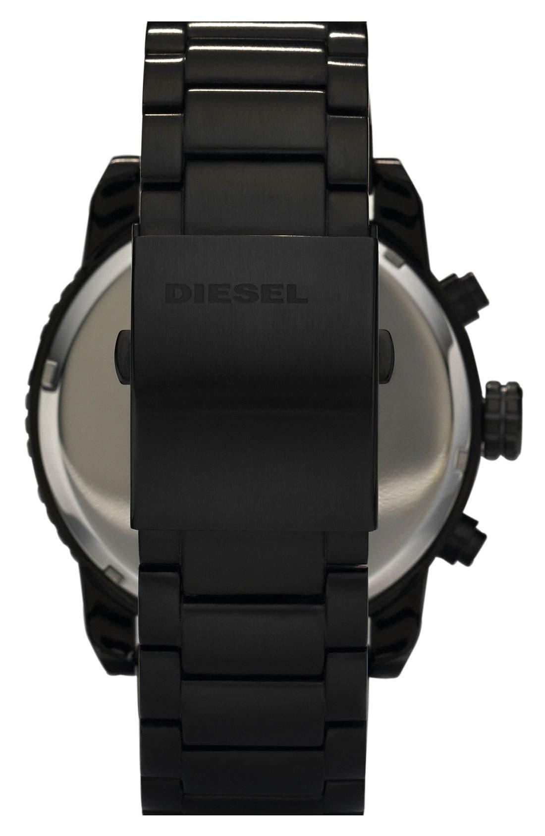 Alternate Image 3  - DIESEL® 'Double Down' Chronograph Bracelet Watch, 51mm