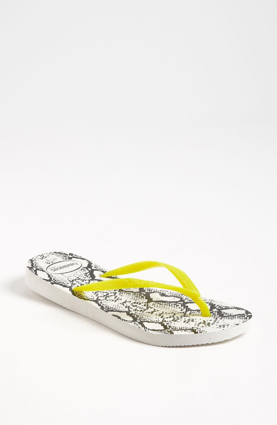 Main Image - Havaianas 'Slim Fluorescent Animal' Sandal (Women)