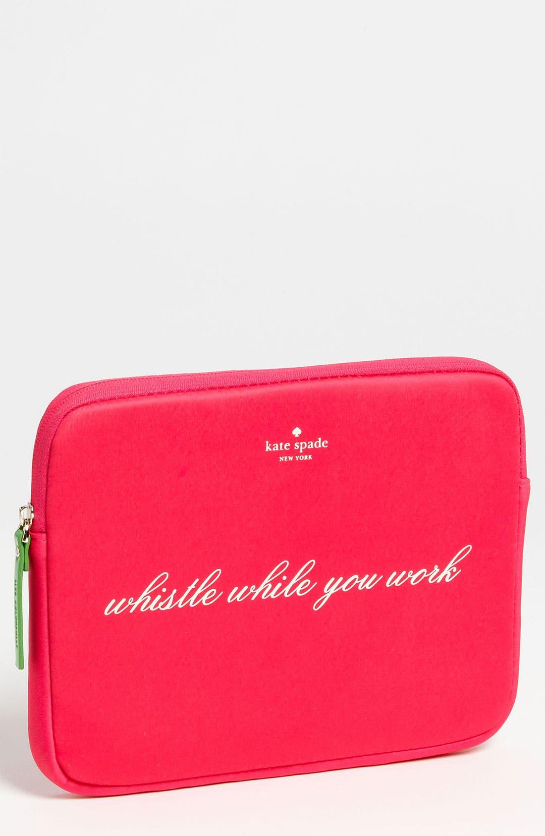 Main Image - kate spade new york 'whistle while you work' iPad sleeve