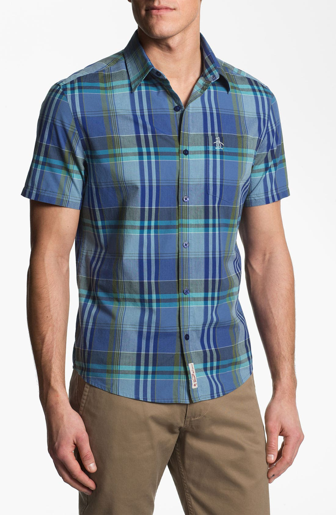 Main Image - Original Penguin Plaid Woven Shirt