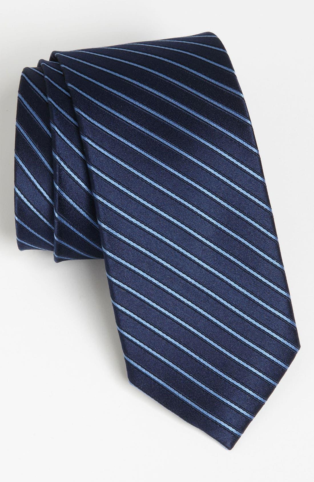Woven Silk Tie,                         Main,                         color, Blue