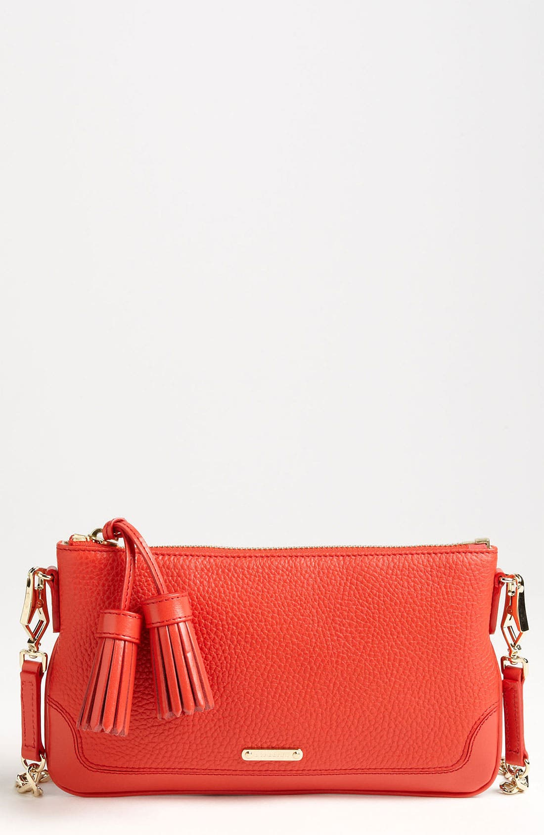 Alternate Image 1 Selected - Burberry 'London Grainy' Crossbody Clutch