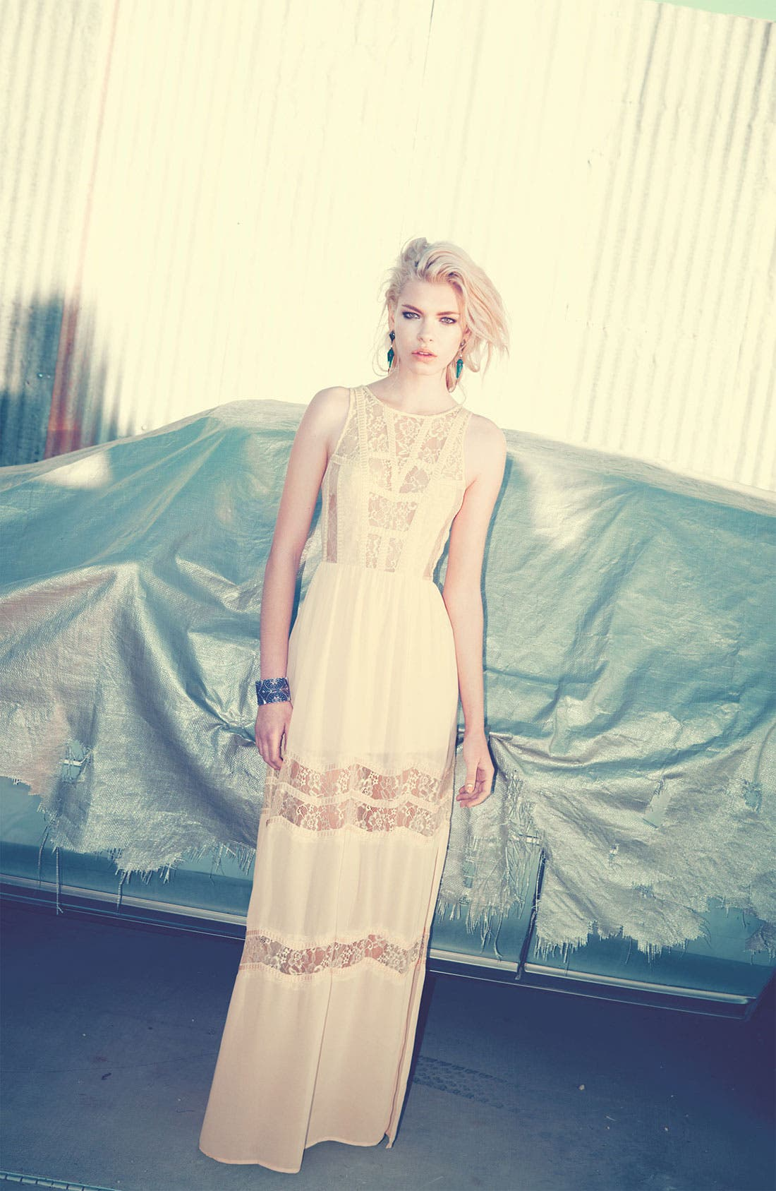 Alternate Image 3  - ASTR Lace Maxidress