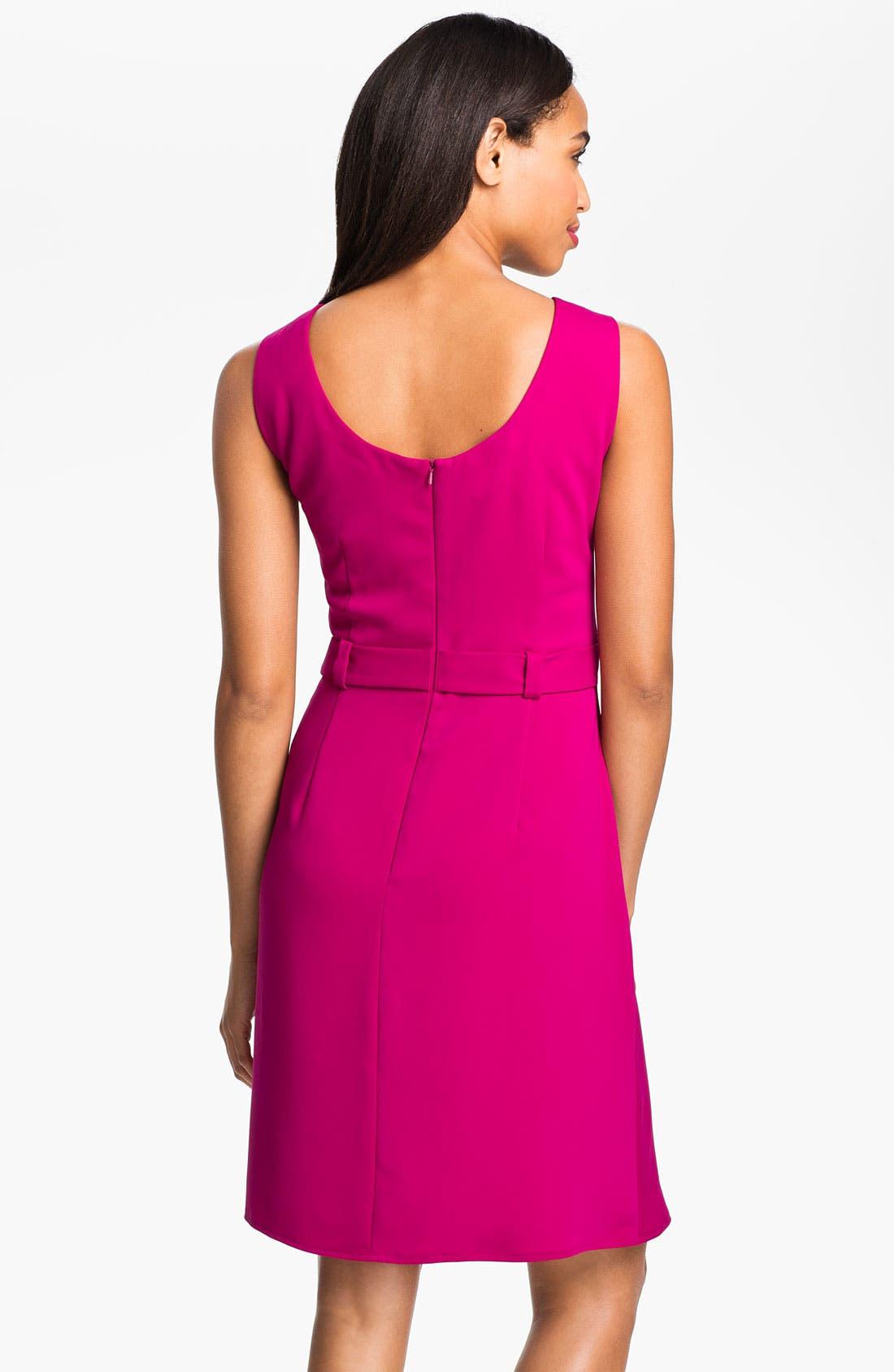 Alternate Image 2  - Donna Ricco Sleeveless Side Tie Dress (Petite)