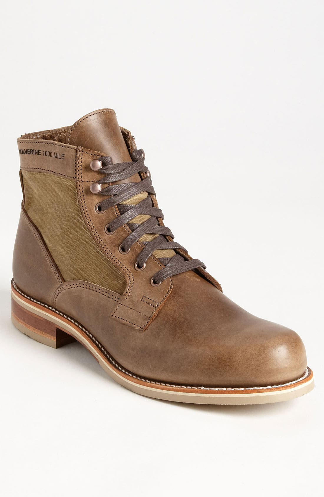 '1000 Mile - Whitepine' Boot,                         Main,                         color, Natural Brown