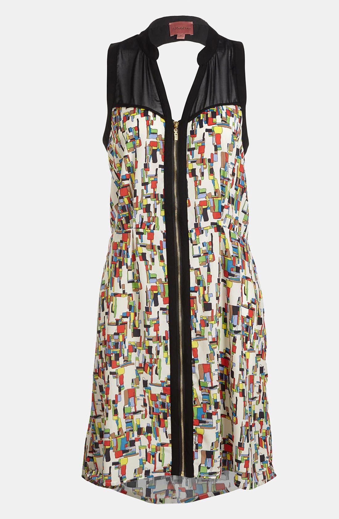 Alternate Image 1 Selected - I.Madeline Zip Front Print Dress