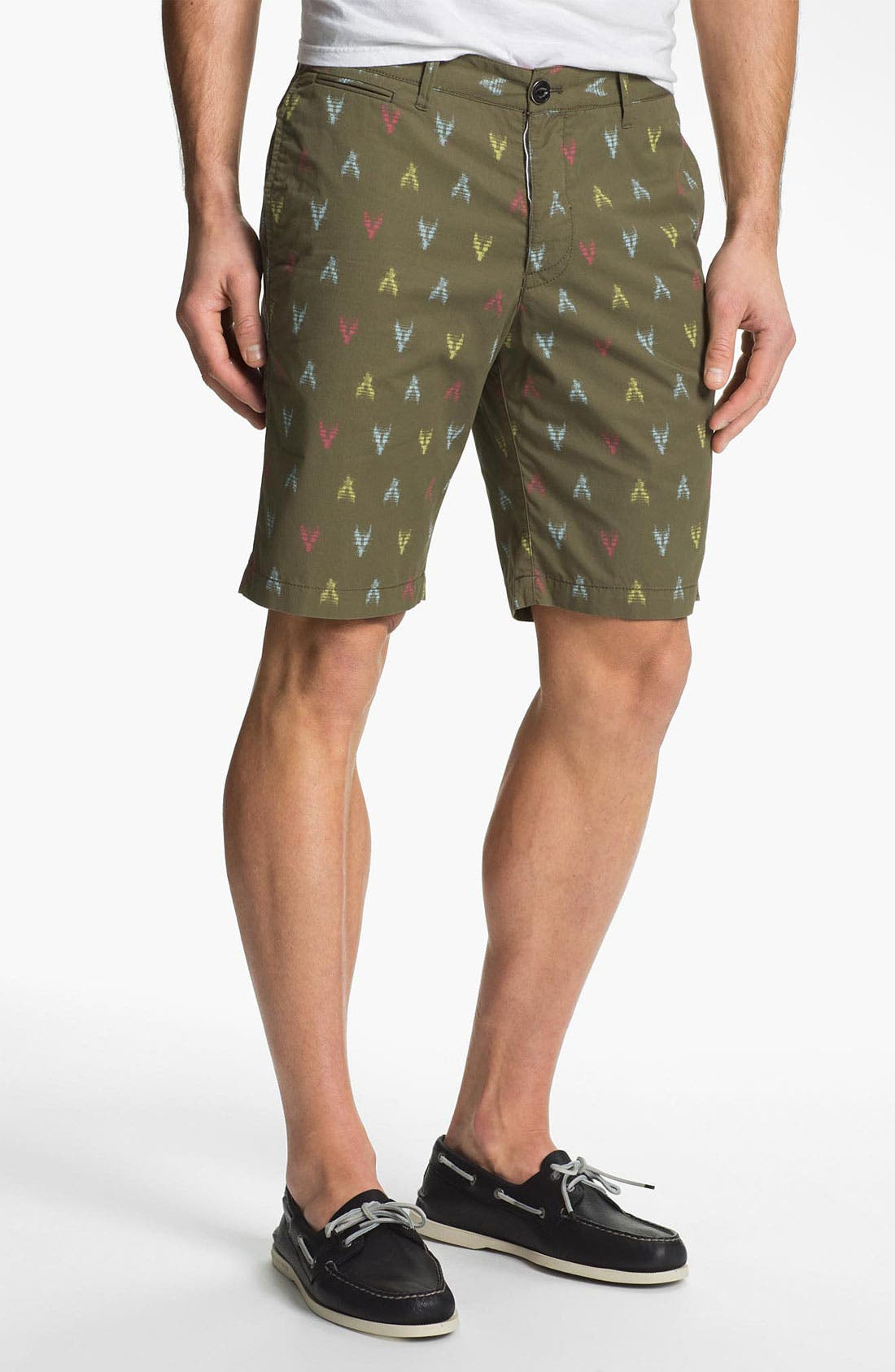 Alternate Image 1 Selected - Original Penguin Print Flat Front Shorts