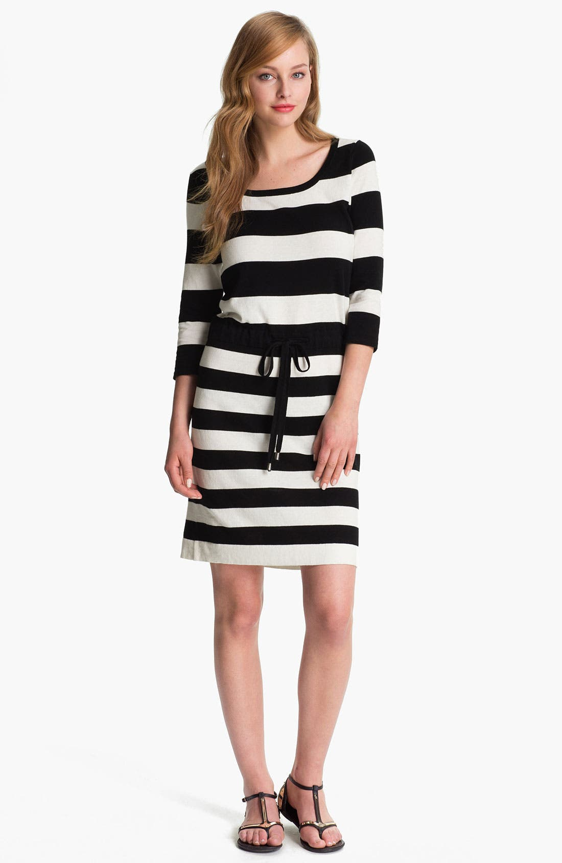 Alternate Image 1 Selected - Vince Camuto Drawstring Waist Stripe Dress