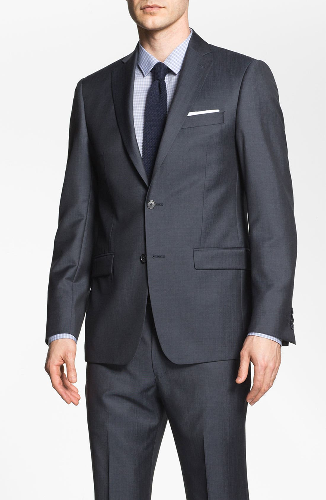 Alternate Image 1 Selected - Michael Kors Trim Fit Twill Suit