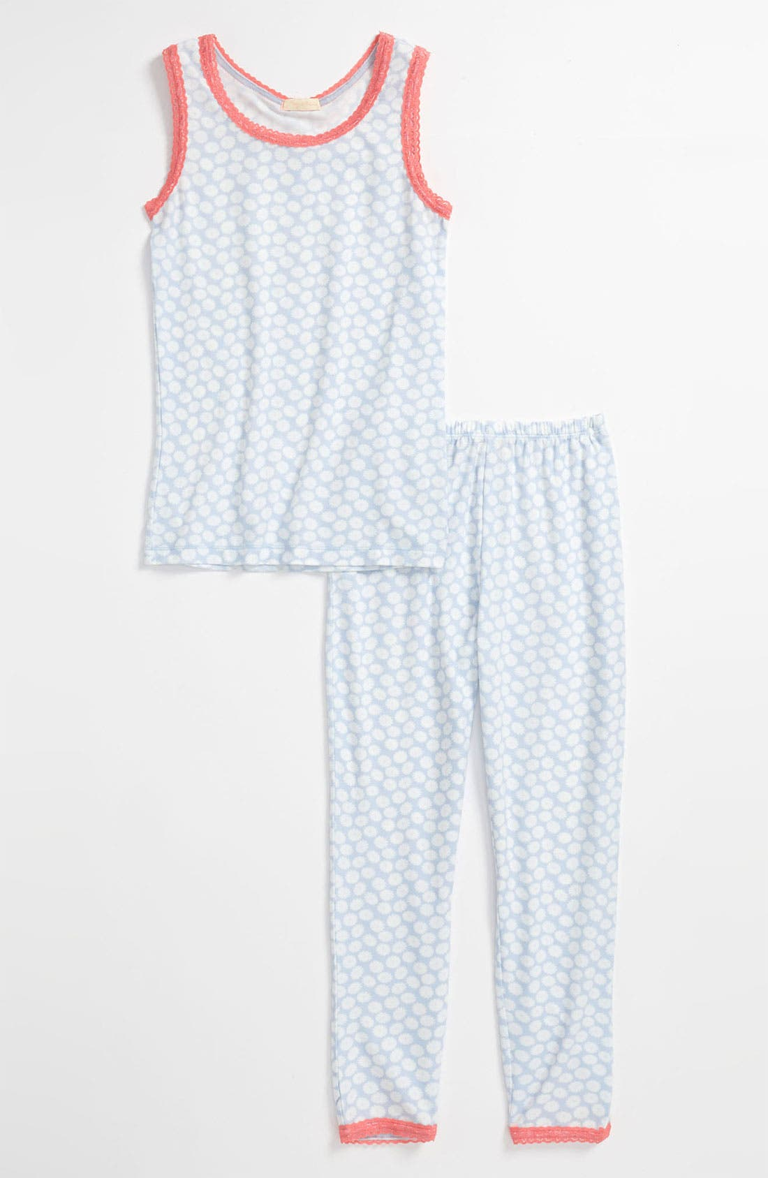 Main Image - Ruby & Bloom Fitted Two-Piece Pajamas (Toddler Girls, Little Girls & Big Girls)