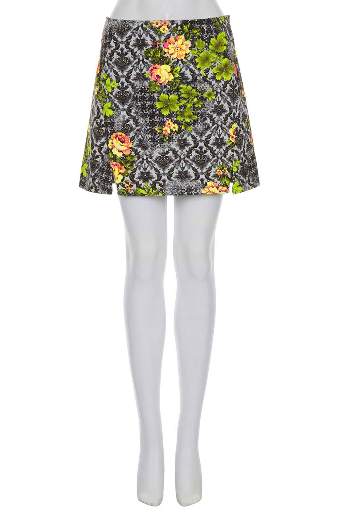 Alternate Image 3  - Topshop 'Acid Leaf' A-Line Skirt