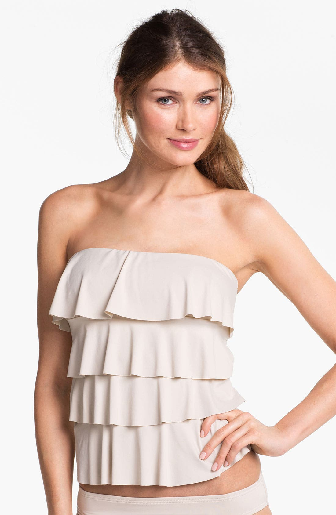 Alternate Image 1 Selected - MICHAEL Michael Kors Ruffle Tankini Top