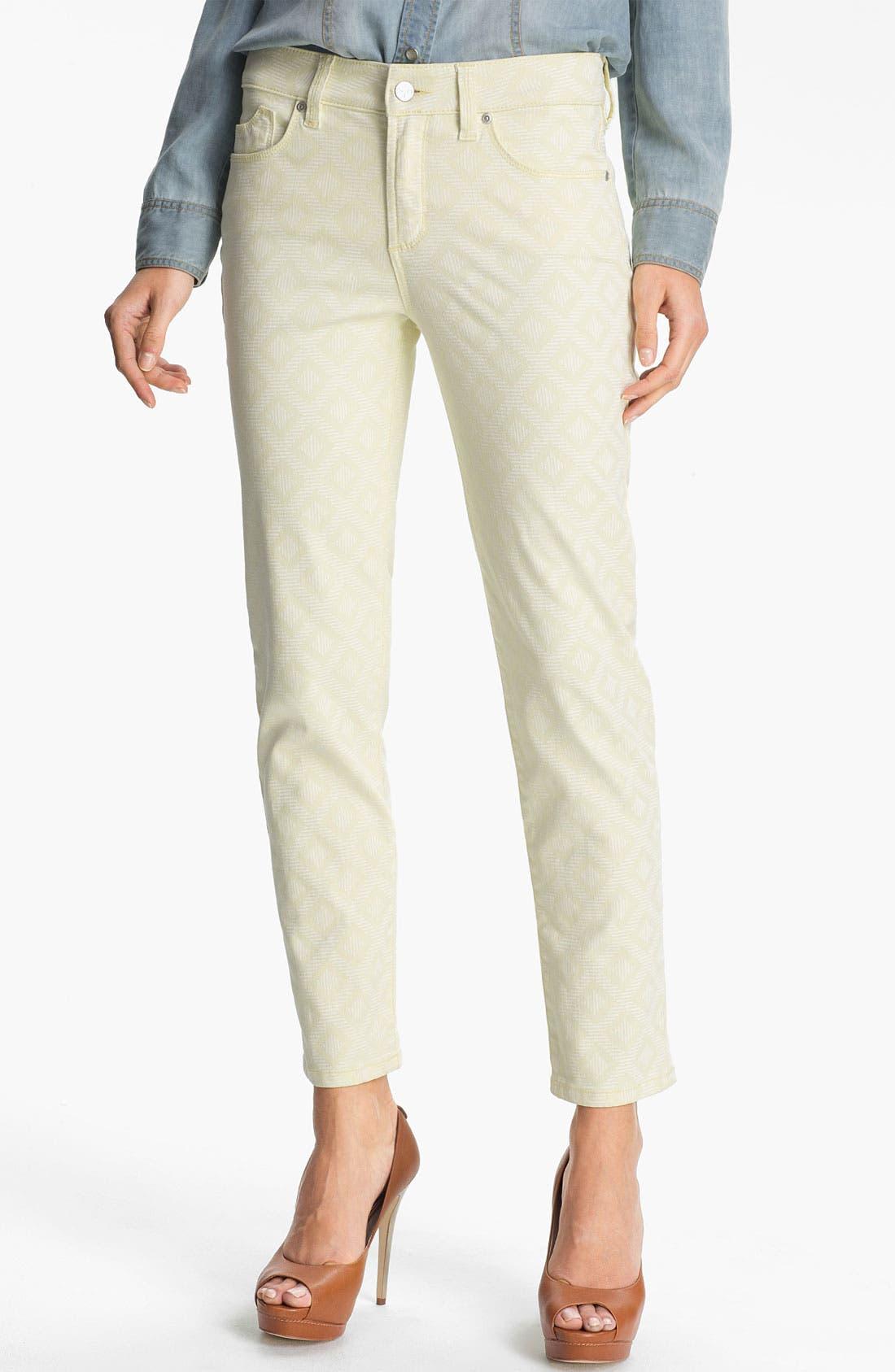 Alternate Image 1 Selected - NYDJ 'Alisha - Jacquard' Skinny Stretch Ankle Jeans