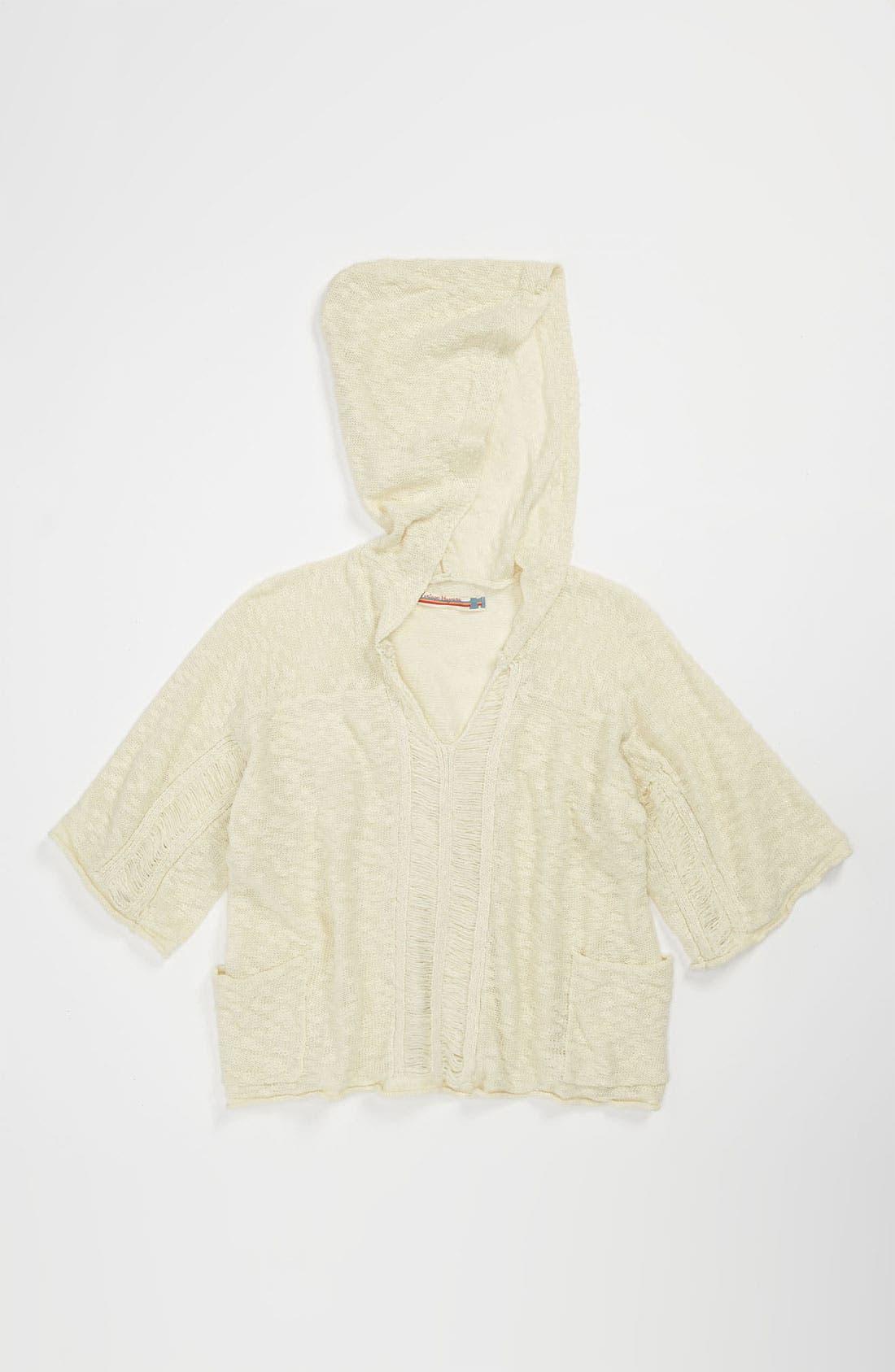 Alternate Image 1 Selected - Vintage Havana Knit Hoodie (Big Girls)