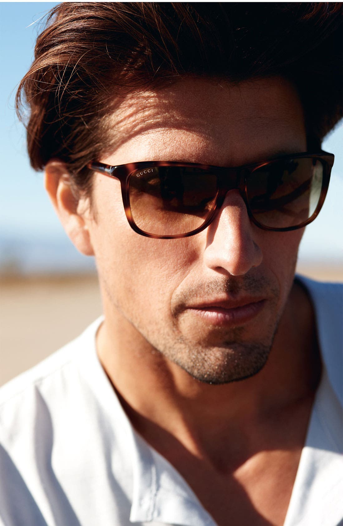 Alternate Image 3  - Gucci Rectangular 55mm Sunglasses