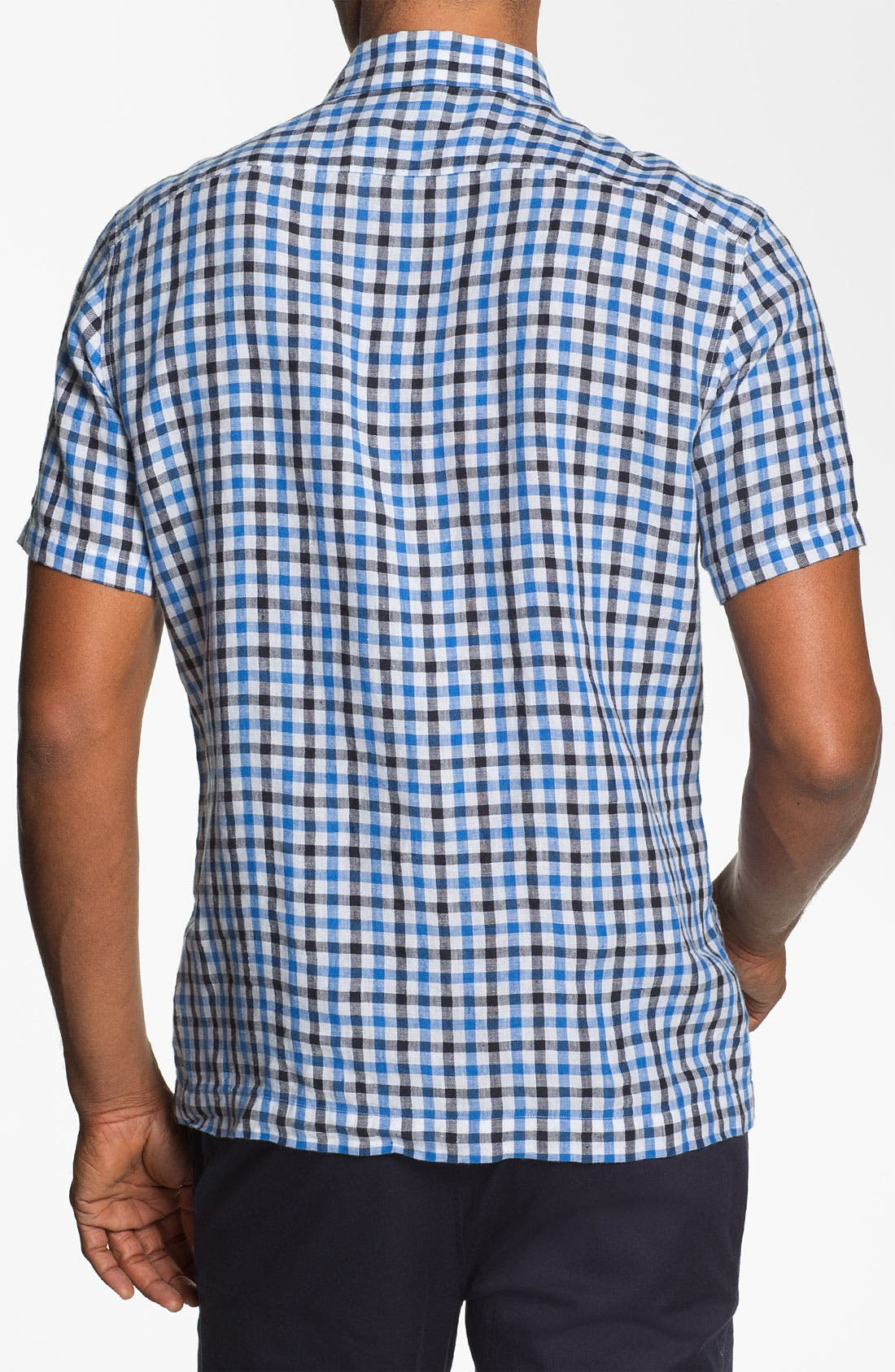 Alternate Image 2  - Michael Kors 'Percy Check' Tailored Fit Sport Shirt