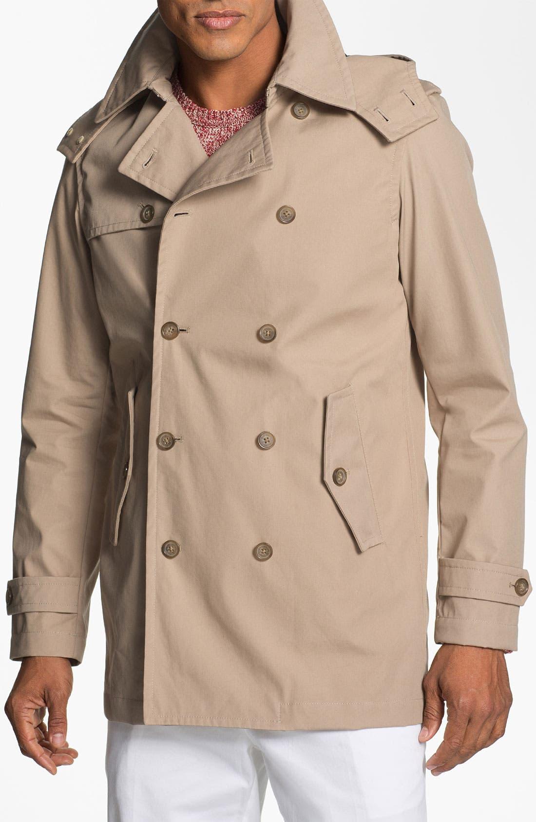 Alternate Image 1 Selected - Michael Kors Hooded Trench Coat