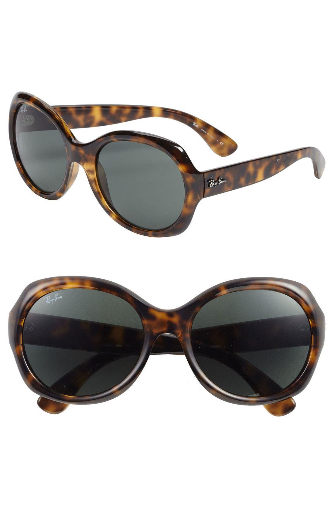 Main Image - Ray-Ban 'Round Glamour' 56mm Polarized Sunglasses
