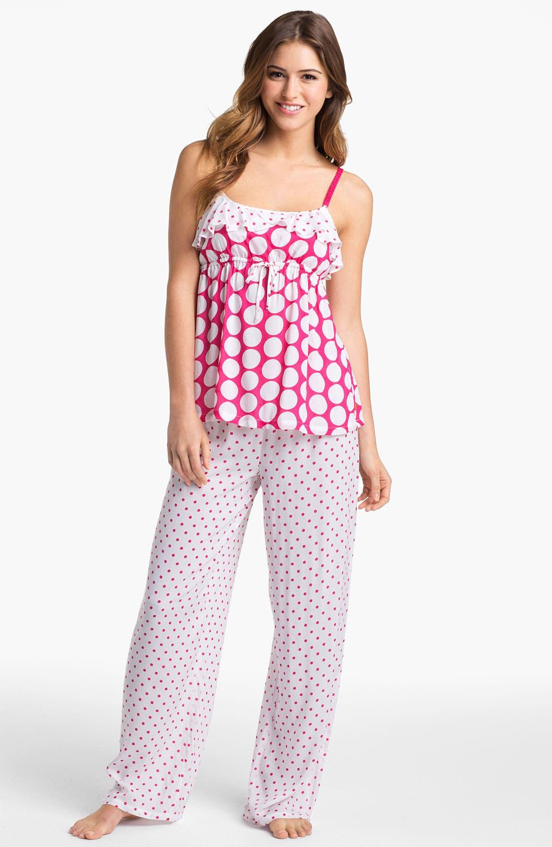 Alternate Image 1 Selected - Josie Dotted Pajamas