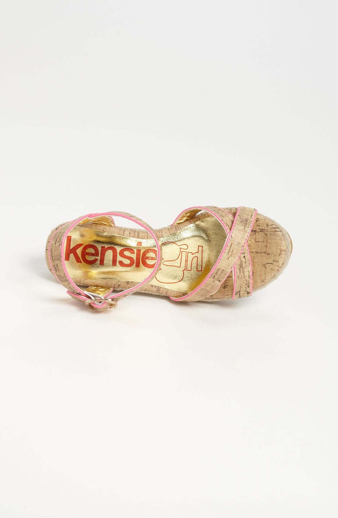 Alternate Image 3  - kensie girl Cross Strap Wedge Sandal (Toddler, Little Kid & Big Kid)