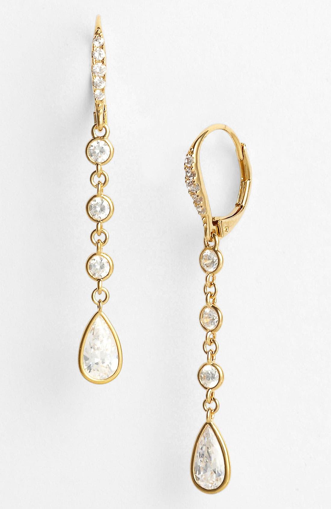 Alternate Image 1 Selected - Nadri Round & Teardrop Cubic Zirconia Earrings (Nordstrom Exclusive)