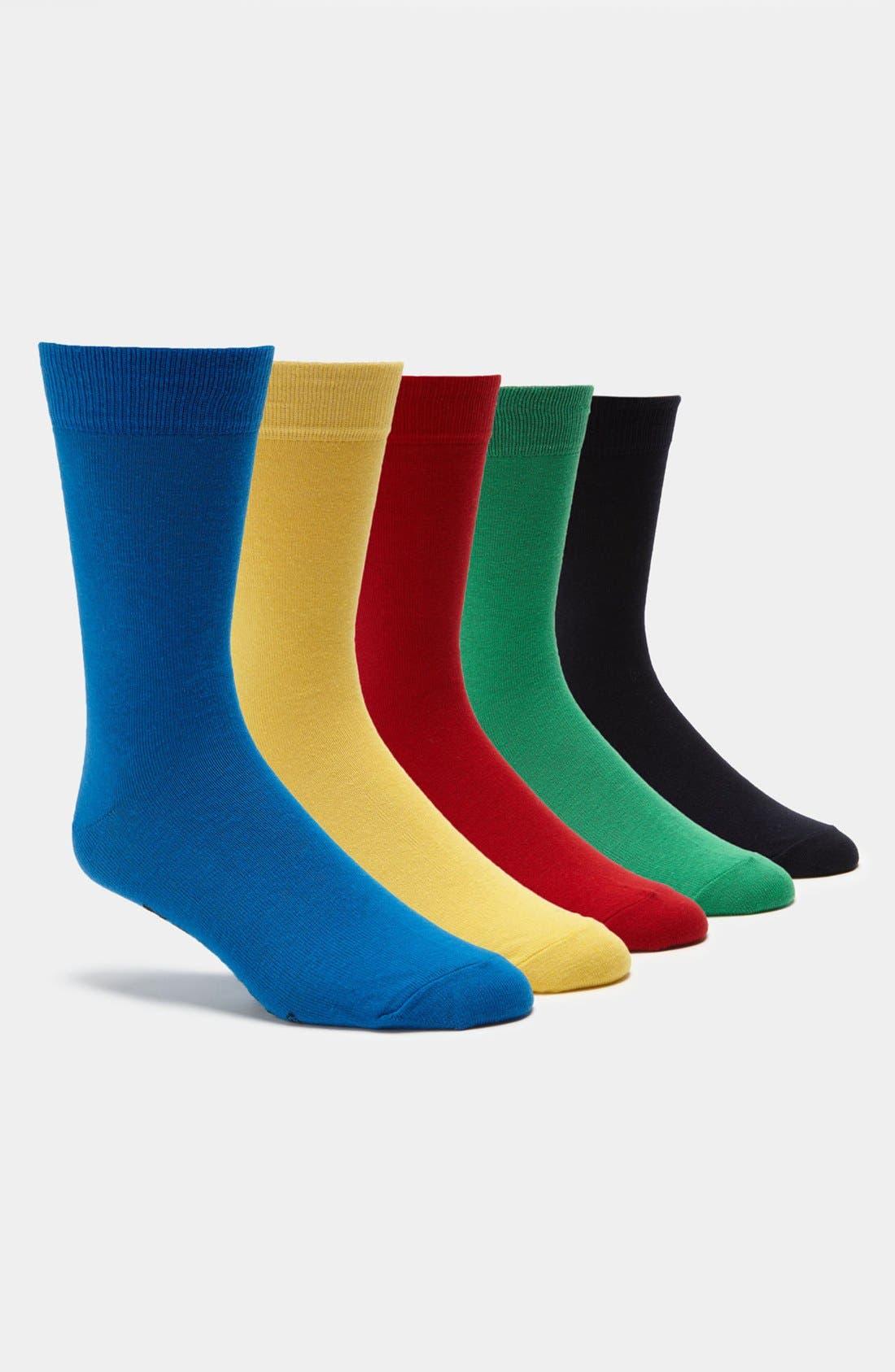 Alternate Image 1 Selected - Topman Bright Socks (5-Pack)