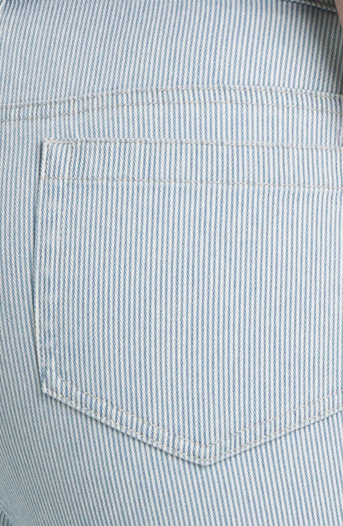 Alternate Image 3  - Two by Vince Camuto Pinstripe Zip Ankle Jeans