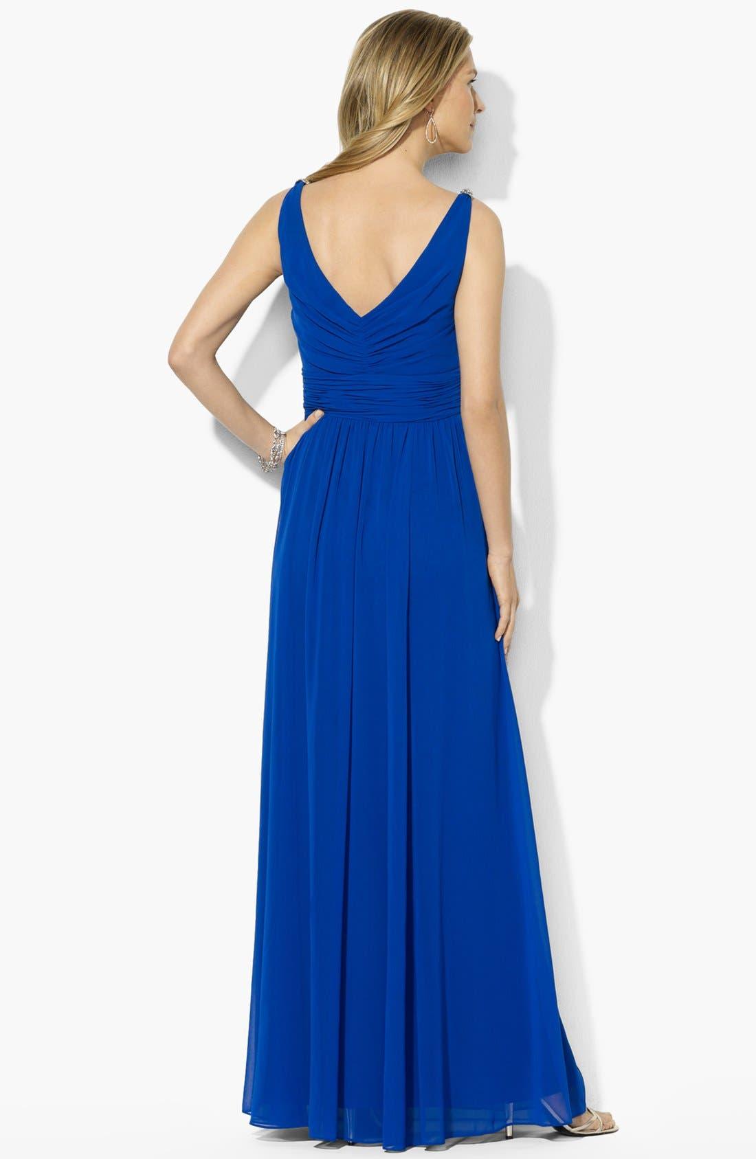 Alternate Image 2  - Lauren Ralph Lauren Embellished Georgette Gown