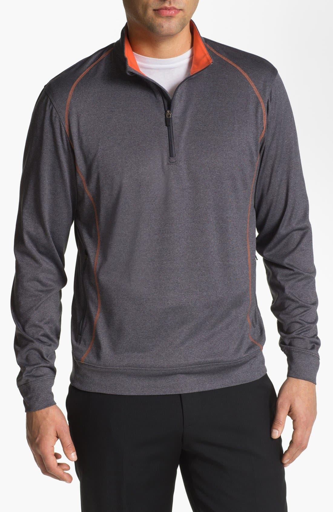 Main Image - Cutter & Buck 'Front Nines' DryTec Quarter Zip Fleece