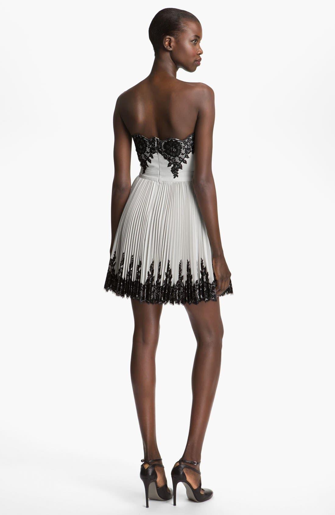 Alternate Image 2  - Robert Rodriguez Strapless Lace Appliqué Dress