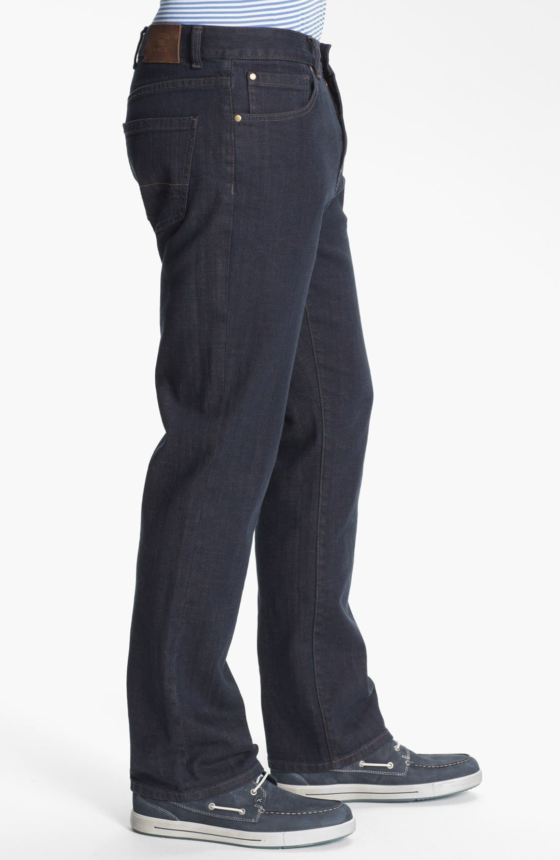 Alternate Image 3  - Cutter & Buck 'Madison Park' Relaxed Fit Jeans (Carbon)