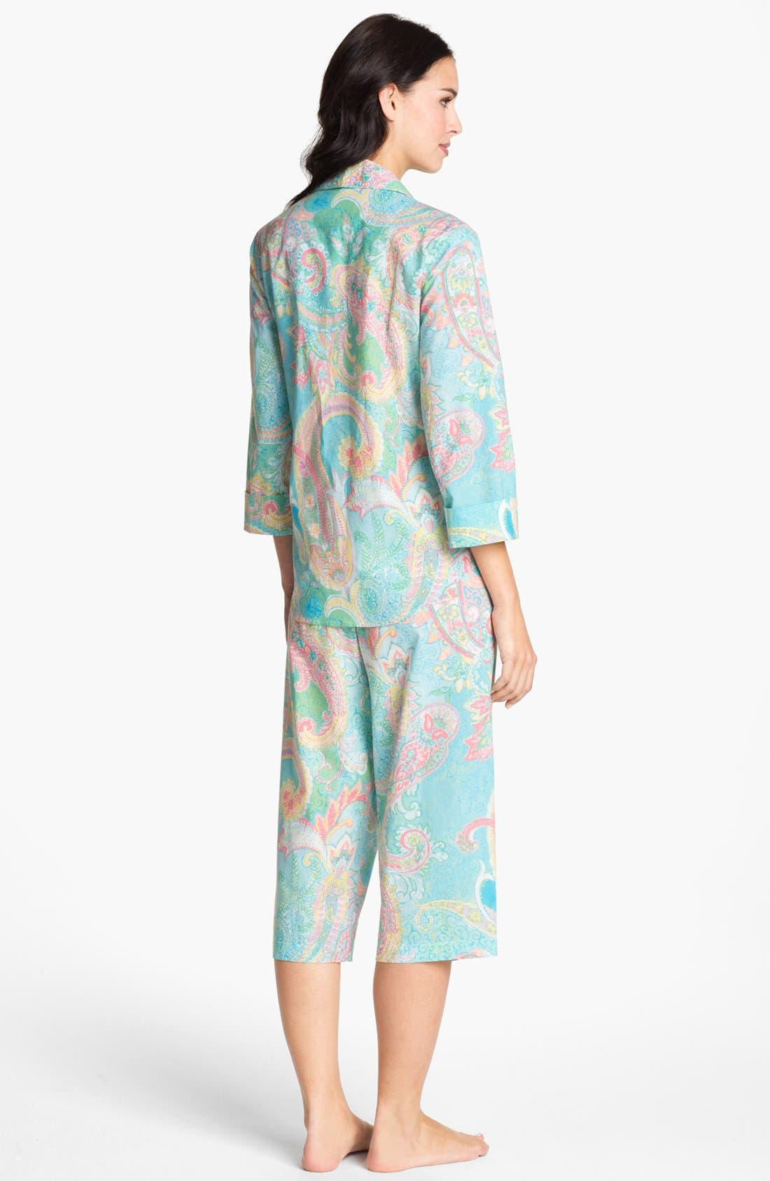 Alternate Image 2  - Lauren Ralph Lauren Crop Pajamas