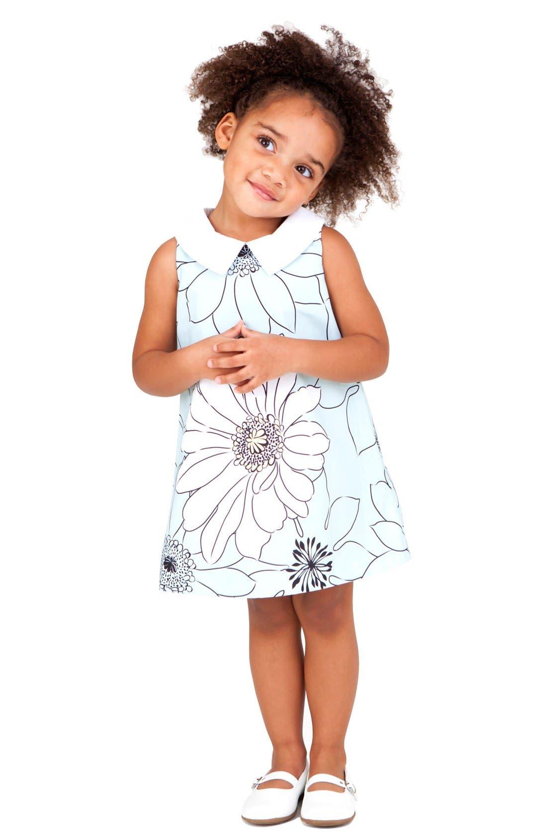 Alternate Image 2  - Pippa & Julie Floral Dress (Toddler)