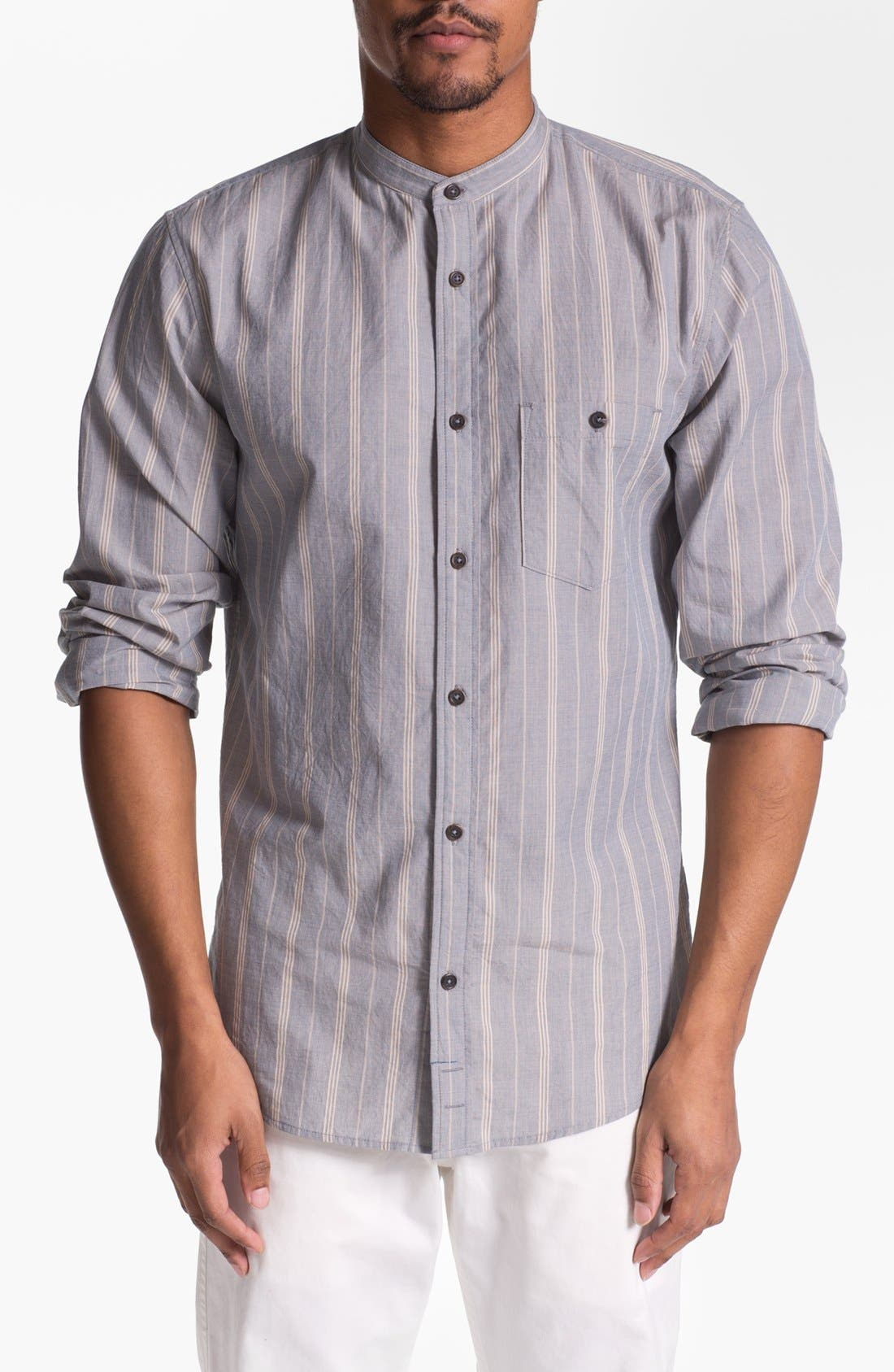 Alternate Image 1 Selected - 7 For All Mankind® Mandarin Collar Shirt